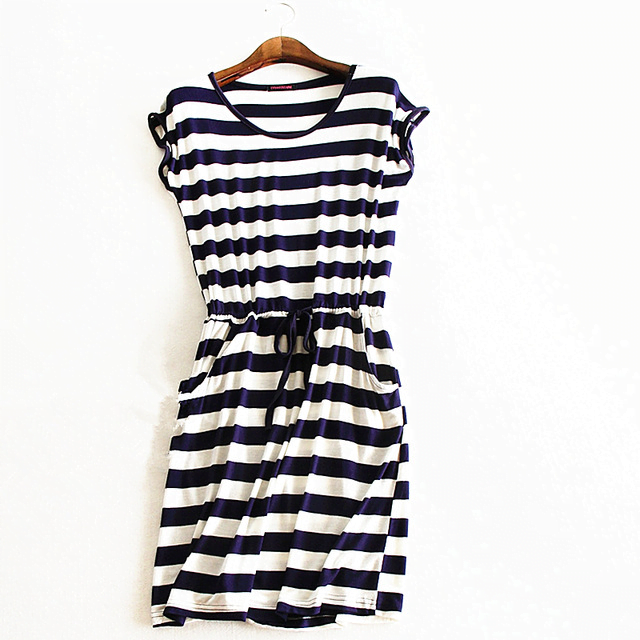68f4b8a1368c Casual Stripe Sleeveless Summer Dress – The Bohemian Boutique